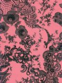 Decopatch Paper - Number 442 - Pink with Black Lace